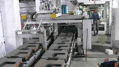 Automatic casting production line